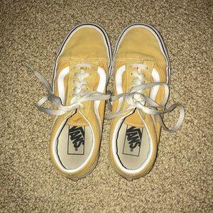 Yellow vans sneakers